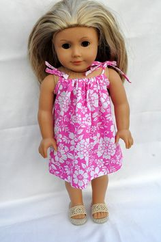 American Girl Doll Clothes Cute Pink Hawaiian by CircleCSewing, $11.00