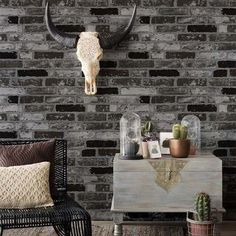HaokHome Modern Faux Brick Wallpaper Black/White Textured Stone Paper Rolls Living room Bedroom Home Wall Decoration Brick Wallpaper Bedroom, Faux Brick Wallpaper, Brick Wall Bedroom, Brick Room, Wallpaper Wall, Textured Wallpaper, Pattern Wallpaper, Wallpaper Ideas, Brick Wallpaper Black And White