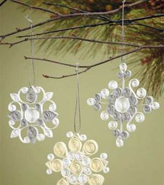 Quilling Snowflake Ornaments