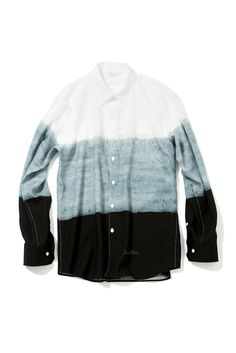 """soe shirts - """"tricolor""""BROAD CLOTH BY PETER SHIRE L/S REGULAR COLLAR"""