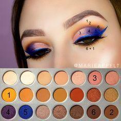 Jaclyn Hill x Morphe Palette, yt: Marie Appelt instagram: @marieappelt how to, makeup, tutorial, look, beginners, step by step, pictorial, abh , modern renaissance, makeup looks , easy , brown eyes , morphe brushes