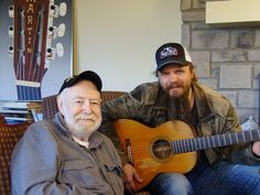 "Hank Cochran and Jamey Johnson for film shoot of ""Livin' For A Song"""