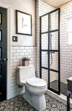 50 Small Master Bathroom Makeover Ideas On A Budget Http with small bathroom design ideas plans regarding Comfortable Tiny House Bathroom, Bathroom Design Small, Attic Bathroom, Simple Bathroom, 1950s Bathroom, Office Bathroom, Bath Design, Small Bathroom Showers, Bathroom Modern
