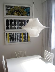 From Alman napa blog, framed fabric