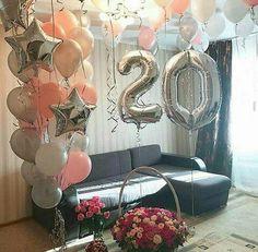 Happy 20th Birthday, 13th Birthday Parties, Adult Birthday Party, Birthday Wishes, Birthday Party Photography, Birthday Goals, Birthday Balloon Decorations, Balloon Installation, Birthday Pictures