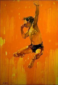 "Costa Dvorezky: Leo's Birthday Oil on canves. 70""x 48"" (178cm x 122cm) Canadian Artist"