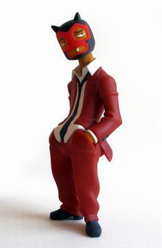 """Vinyl, vinyl toys, designer toys, urban vinyl, art toys, """"Luchador Mexicano"""" by…"""