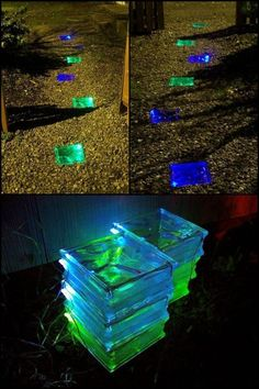 Learn How to Make a Wonderful Solar-Powered Walkway! - Home diy - Learn How to Make a Wonderful Solar-Powered Walkway! You are in the right place about solar lights i - Diy Solar, Solar Light Crafts, Solar Lamp, Backyard Projects, Outdoor Projects, Garden Projects, Backyard Ideas, Garden Ideas, Garden Boxes
