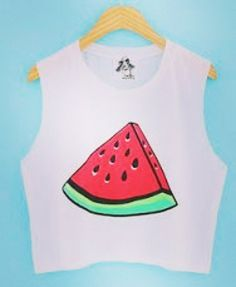 This is simple picture of watermelon! by the_style_atelier Cute Summer Outfits, Cool Outfits, Fashion Outfits, Womens Fashion, Watermelon Outfit, Funny Outfits, Cute Tops, Diy Clothes, Autumn Fashion