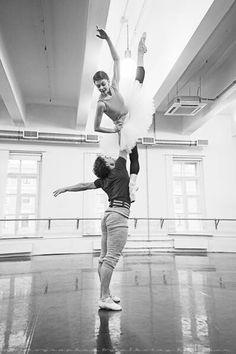 Oksana Bondareva & Ivan Vasiliev in rehearsal, Mikhailovsky Ballet