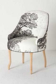 Handpainted Toile Chairs by Anthropologie... Love this... for the library or something