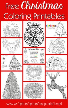 Just Color! ~ Free Coloring Printables Christmas and tons more coloring pages FREE