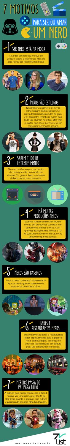#Infográfico #Nerd #Geek #Orgulhonerd #Design #Movies #Filmes #Cinema…