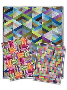 Strip it three ways with jelly rolls from Annies Quilts.