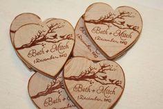 Wedding Favor Wood Magnets100 Custom Save by stampshandmadeforyou, $144.00