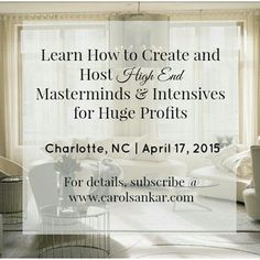 Why are you settling for working with clients who cannot afford your services? 80% of success is just showing up. Work smarter not harder.. www.carolsankar.com (stay tuned for your chance to join me in April. Only 9 seats available)  #success #money ##highpayingclients #luxe #luxeevents #ThinkBetter #exclusive #leader #coach #consultant #trainer #author #storyteller #transformationcoach #milliondollarconversations #knowyourworth #raisethebar #tedx #tedtalks #entrepreneurmagazine…