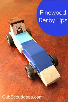 tips for pinewood derby