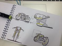 Quick Cafe Racer sketches - Ronald Rink