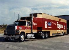 Roush Racing, Ford LTL9000, Folgers, NASCAR, Ford Racing, Transporter, Hauler