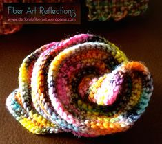 Hyperbolic Crochet in an expanding spiral form, using Koigu sock yarn Fingerless Gloves Crochet Pattern, Crochet Shoes Pattern, Crochet Ruffle, Freeform Crochet, Crochet Art, Crochet Motif, Crochet Crafts, Crochet Flowers, Crochet Stitches