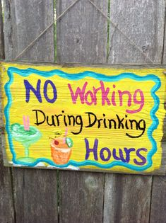funny signs for tiki bar