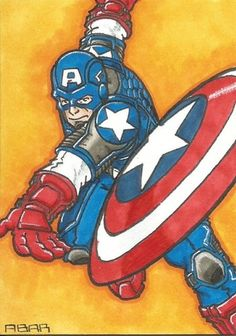 Captain America Sketch Card