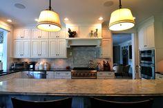 #kitchen #traditional #superwhite #blackpearl #kitchenisland #stainlesssteel #backsplash #granite #marble #italianmarbleandgraniteinc