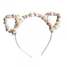 Crown And Glory Floral Kitty Ears £24.95 - treasures box.co.uk