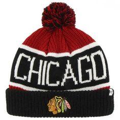 Mens Chicago Blackhawks '47 Brand Red Calgary Cuffed Knit Beanie