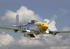 """North American P-51 Mustang fighter, """"Ferrocious Frankie"""". It had a sweet song all of its own. You became part of it. Power. Grace...... It was so easy to fly that it was said by the pilots that all you had to do was to turn your head where you wanted to go and it would go."""