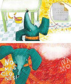 ilustraciones para El perro Salchicha - Editorial Municipal de Rosario