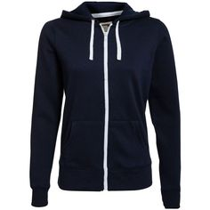 Navy Zip Up Hoodie ($14) ❤ liked on Polyvore featuring tops, hoodies, jackets, outerwear, sweaters, navy, zippered hooded sweatshirt, blue zip up hoodie, navy blue hoodies and navy zip up hoodie