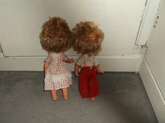 "UNUSUAL VINTAGE KEWPIE DOLLS made in ITALY FIBA HB 11"" DRESSED! TWINS?   eBay Kewpie, Vintage Dolls, Twins, Italy, How To Make, Dresses, Vestidos, Italia, Antique Dolls"
