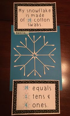 First Grade Place Value Craft / Activity- Winter Themed- Common Core Aligned – Cool Math Games – Cool Math – Hooda Math Games 1st Grade Crafts, Math Crafts, First Grade Activities, Teaching First Grade, Craft Activities, Montessori Activities, Winter Activities, Educational Activities, Teaching Art
