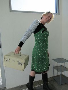 JPG by JoulesVintage, via Flickr Love that Dress, and the green with black