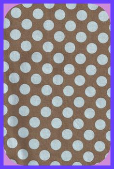 Polka Dot Blue Brown Fabric Cotton Remnant by TheMaineCoonCat on Etsy