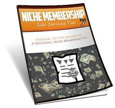 Niche Membership Site Tips eBook Report.  Niche Membership Site Tips eBook Report with Basic Resale Rights.