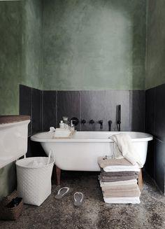 Love that sage texture wall | Veronique