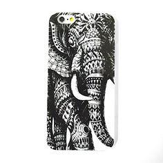 le cuir d'éléphant patterntpu cas de retour de couverture pour iPhone 6 – EUR € 1.89