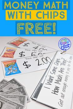 If you teach Special Ed or in an Autism Unit, you need this fun and functional money math center or work system activity. Get this FREE printable activity today for your classroom lesson or for IEP goals! Easy to differentiate too with a few simple steps. Money Activities, Life Skills Activities, Autism Activities, Math Skills, Teaching Money, Teaching Math, Special Education Math, Homeschool Math, Homeschooling