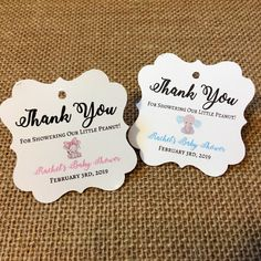 Excited to share the latest addition to my #etsy shop: Elephant theme baby shower favor tags, baby shower, little peanut