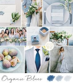 Organic Blues Inspiration Board | SouthBound Bride | http://www.southboundbride.com/inspiration-board-organic-blues