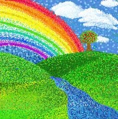 rainbow pointillism