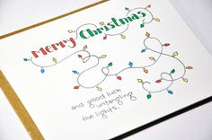 Tangled Lights Humorous Christmas Card