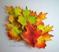 Gumpaste Autumn Leaves Tutorial - Sugared Productions Blog