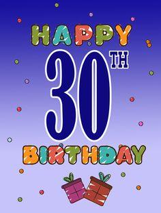 Happy 30th Birthday 2-Sided Garden Flag