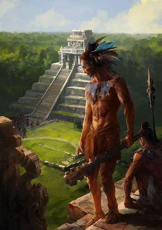 Paint - Maya pyramid finished. -