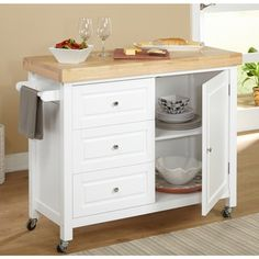 Simple Living Monterey Kitchen Cart - 18780512 - Overstock.com Shopping - Great Deals on Simple Living Kitchen Carts