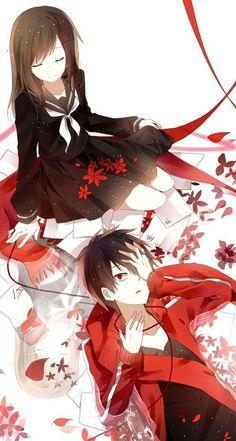 Kisaragi Shintaro and Tateyama Ayano Render by Akiyumi-chan on DeviantArt Anime W, I Love Anime, Couple Manga, Kagerou Project, Anime Kunst, Cute Anime Couples, The Villain, Anime Style, Manga Art