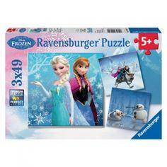 Puzzle mit Frozen Bildern für Kinder ab 5 Jahren.